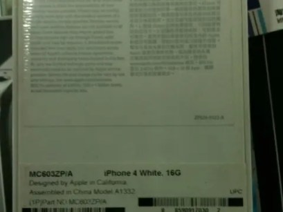 Genuine White iPhone 4 On the Grey Market in China!