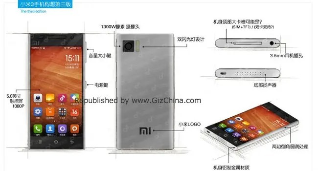 xiaomi mi3 design idea hero