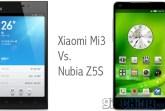 xiaomi mi3 vs nubia z5s
