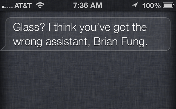 siri avoids google glass