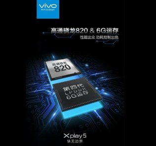 Vivo Xplay 5 with 6GB RAM