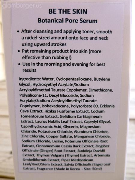 Be The Skin Botanical Pore Serum