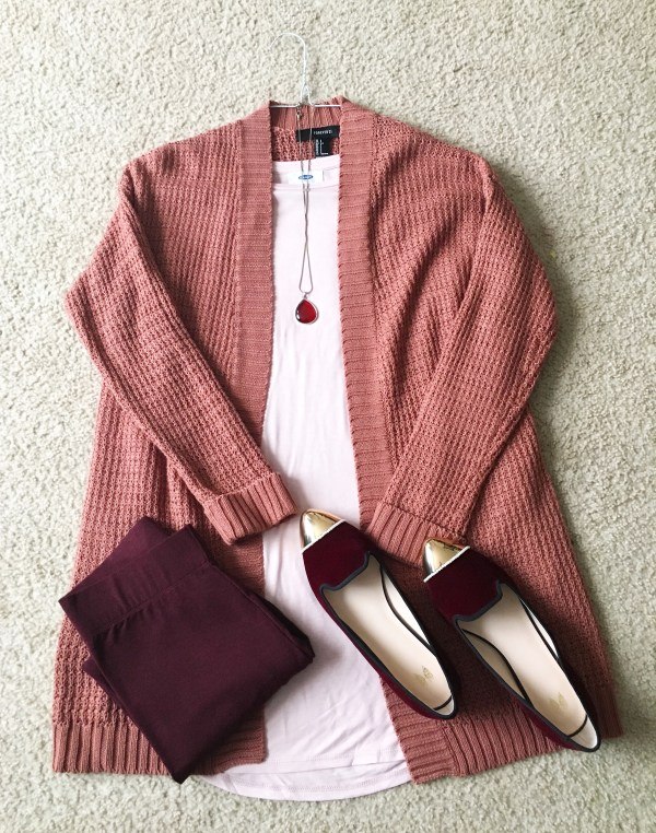 Mauve Cardigan - Two Looks