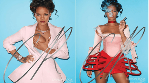 Rihanna Transforms Into A saucy Modern-Day Marie Antoinette for CR Fashion Book Cover