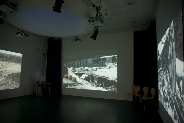 Projected video installation, Level Centre, Rowsley.