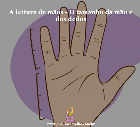 A leitura de mãos – O tamanho da mão e dos dedos