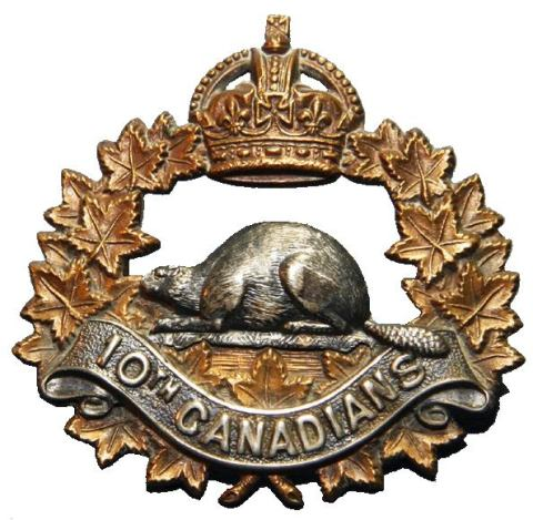 10th canadians badge