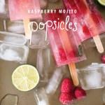 raspberry mojito popsicles