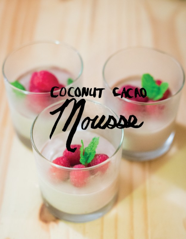 coconut cacao mousse