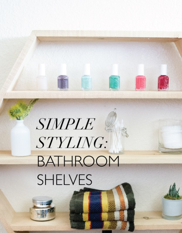 simple styling bathroom shelves