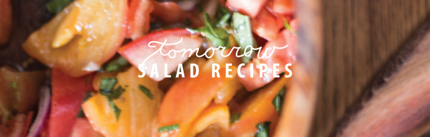 tomorrow's post salad recipes