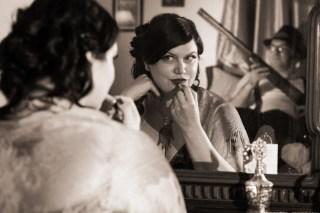 Jen & George {Film Noir Engagement Photos}