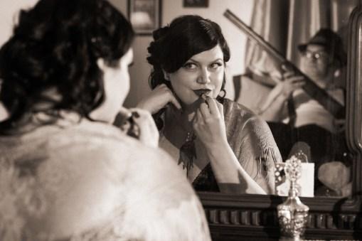 Jen & George's Film Noir Engagement Photos