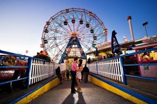 Coney Island Engagement Photos {Stephanie & Marty}