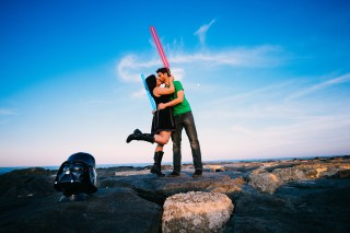 Star Wars Themed Engagement Photos {Rebecca & Clay}