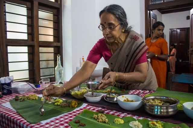 Indian hospitality at a homestay in Kerala