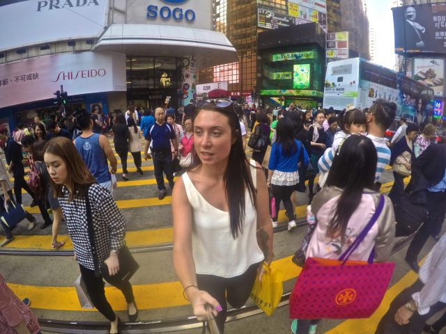 sarah on her working holiday in hong kong