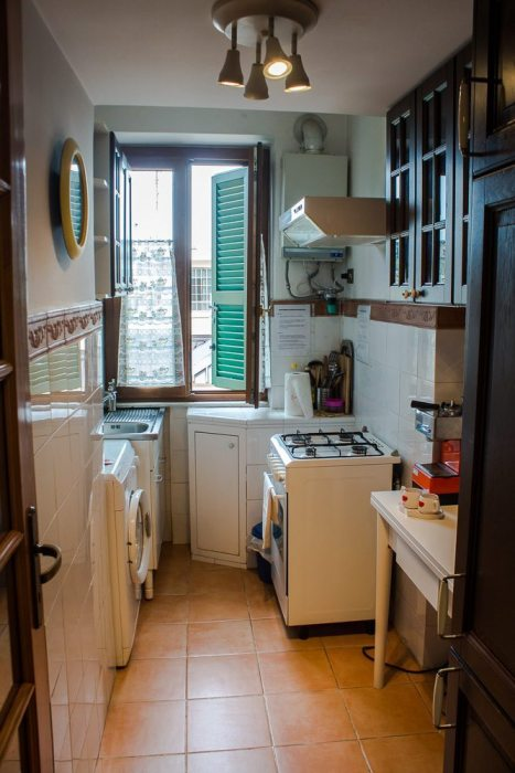 The kitchen in our Rome apartment