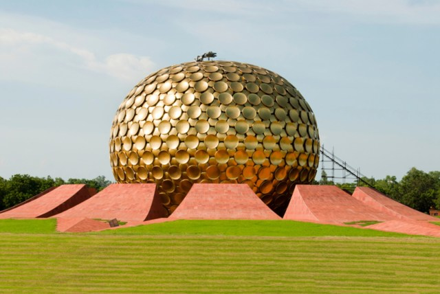 The matrimandir  at Auroville