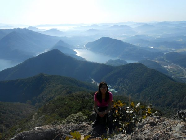 Lianne exploring the nature in South Korea