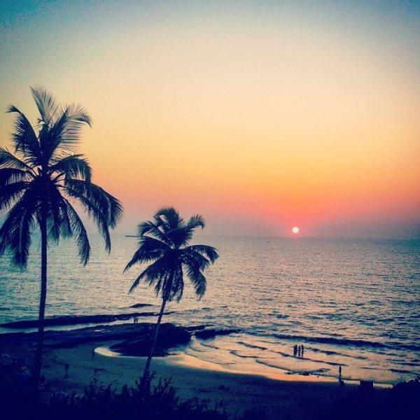 Sunset over Vagator Beach
