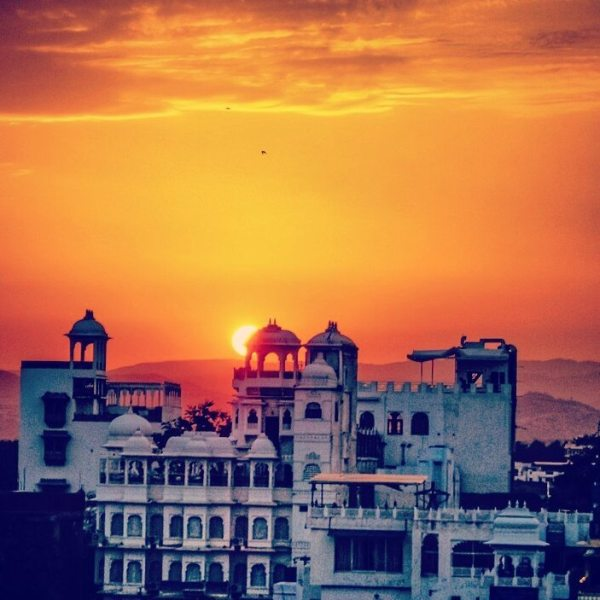 Sunset in Udaipur, Rajasthan