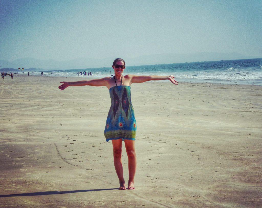 On deserted Majorda beach in South Goa