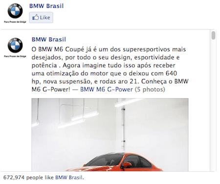 BMW Facebook Brazil