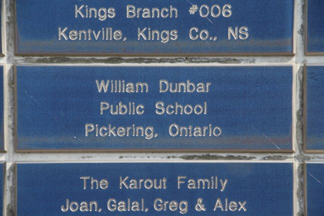 We found this plaque from our home town of Pickering, Ontario - a school not too far from our house!