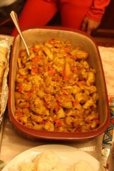 A spicy cauliflower dish