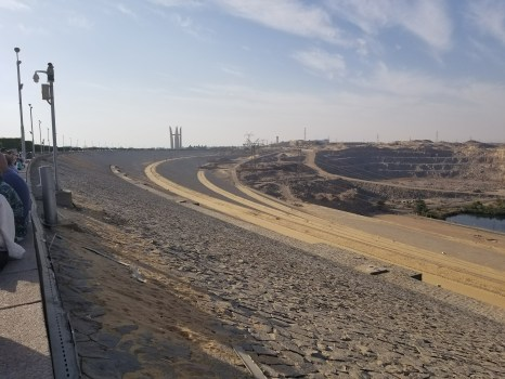 Images of the downstream side of the dam