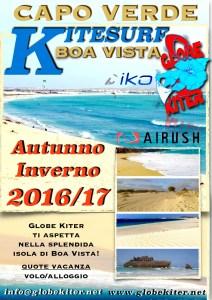 """alt:""""Kitesurf a Boa Vista, Capo Verde, Globe KIter"""""""