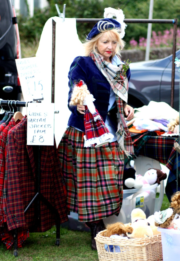 Vendeuse stand - Highland Games - Ecosse