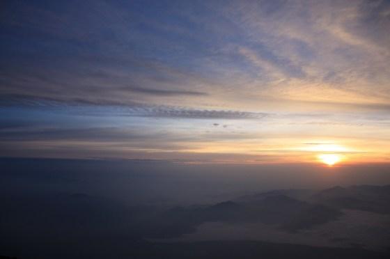 Soleil levant - Fuji