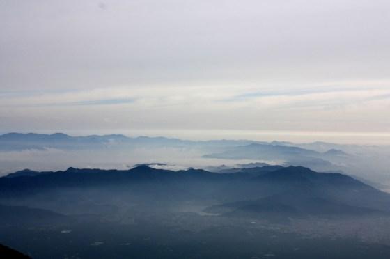 Vue montagne depuis Fuji - Japon