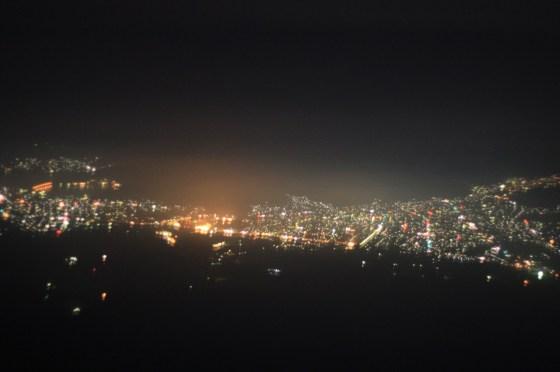 Vue nuit Fuji - Japon