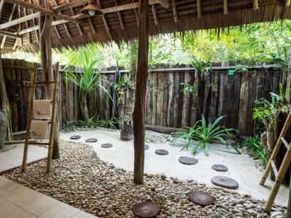 Badezimmer Pulau Pef Unterkunft