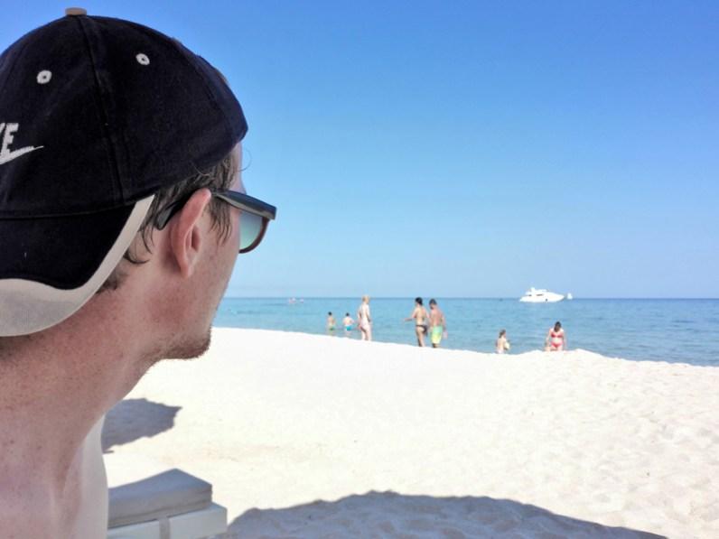 Globesession_Forte Village_Strand_Blick aufs Meer