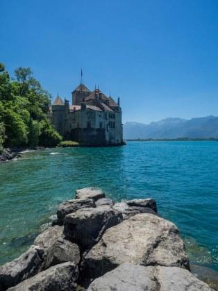 Das Schloss Chillon in der Nähe von Montreux