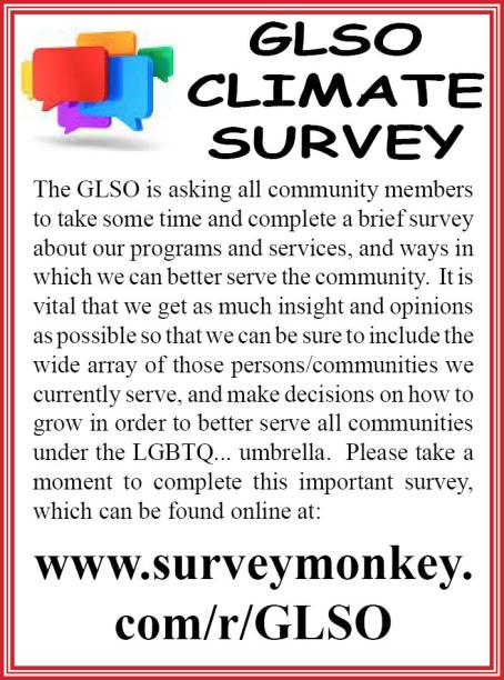 Please take a moment to complete this survey.  You are VITAL to this process.  Simply click above to access.