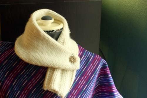 repurposed sweater cowl