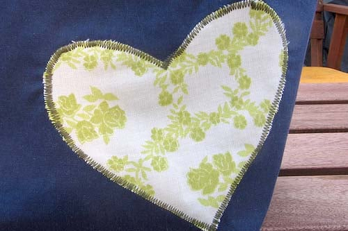 applique heart
