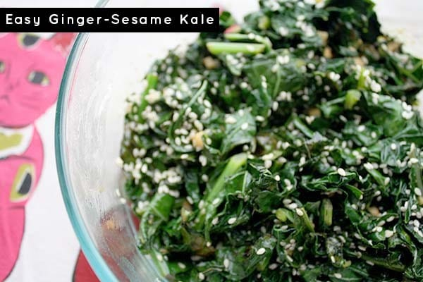 It's fall, and that means kale season! Yay! Honestly, I could eat kale every single day, and this simple gingered kale recipe is a frequent star in our kitchen.