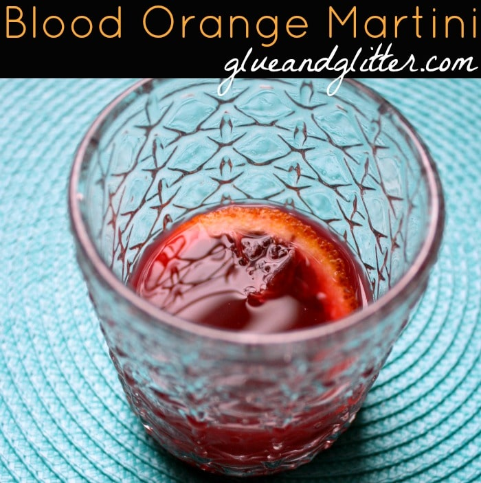 Don't you love the color of this blood orange martini? It's a little bit sweet, a little bit tangy, and totally delicious!