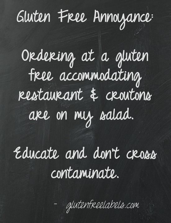 GlutenFree Annoyances