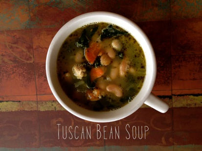 Tuscan Bean Soup (gluten & dairy-free)