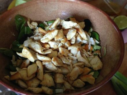 Spring Salad with Grilled Chicken & Kumquats