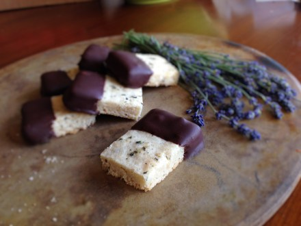 Honey-Lavender Shortbread (gluten-free)
