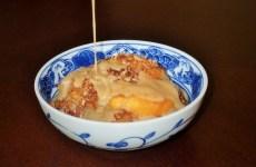 Peach Crisp with Maple-Rum Cream