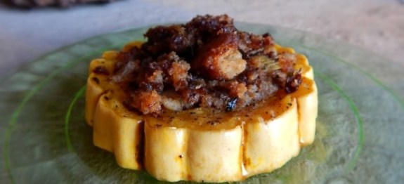 Delicata Rings with GF Stuffing